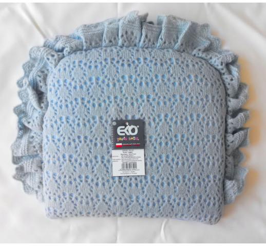 Подушка Ажурная EKO PO-03 голубая